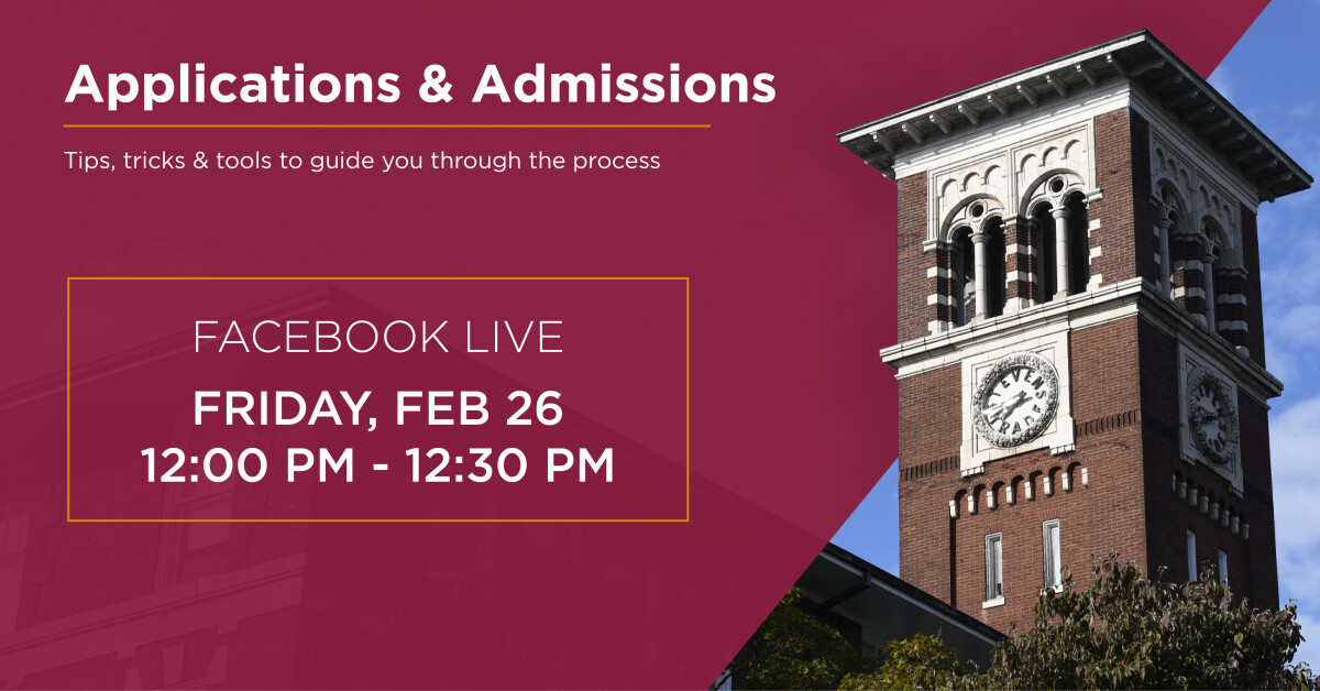 Facebook Live: Applications & Admissions